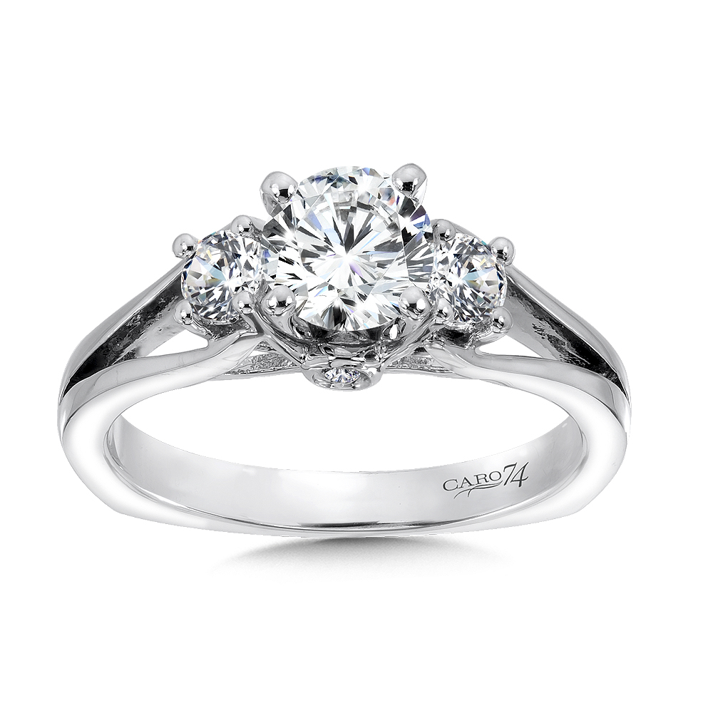 Classic Elegance Diamond Three Stone Engagement Ring With