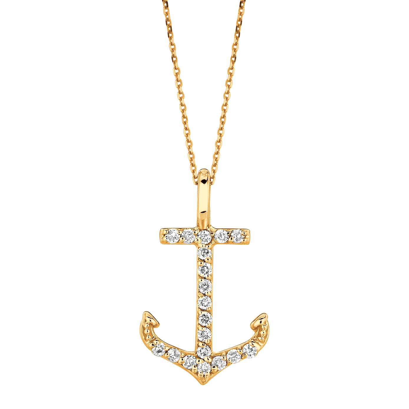 Compare Prices On 1ct Diamond Pendant Online Shopping Buy: Buy Diamond Anchor Necklace