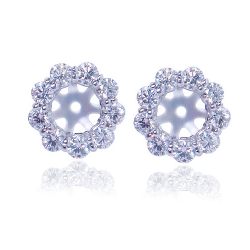 Emerald Cut Diamond Earring Jackets