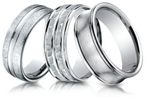 fit wedding dp comfort satin benchmark sided finish men titanium size square four rings ring s