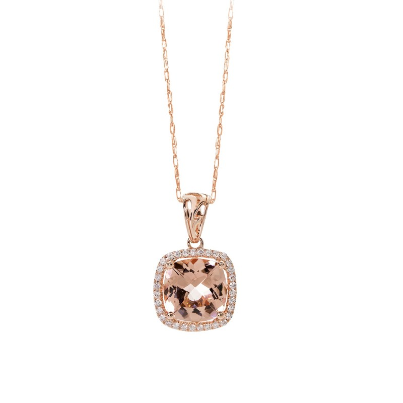 gold diamond morganite on necklace chain diamonds set pendant rose grahams image and a in jewellers enhancer