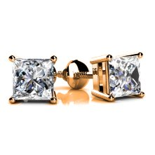 create your diamond studs with yellow gold at id jewelry